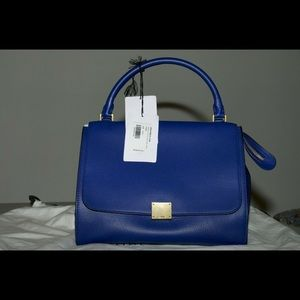 Brand New Celine Trapeze Leather Handbag